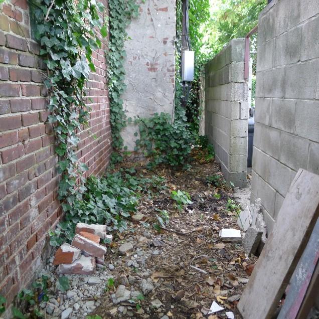 Alley behind door